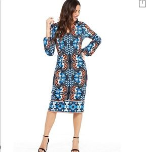 Maggy London Folkloric Printed Jersey Dress
